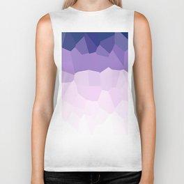 Purple Watercolor Crystals Biker Tank