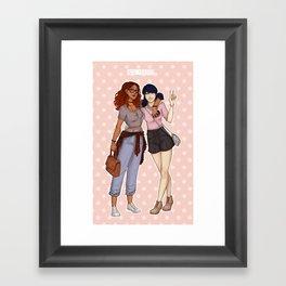 Marinette and Alya Framed Art Print