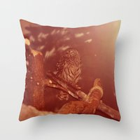 the who Throw Pillows featuring who. by Rae Snyder
