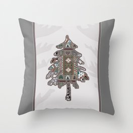 Christmas Patchwork Tree Throw Pillow