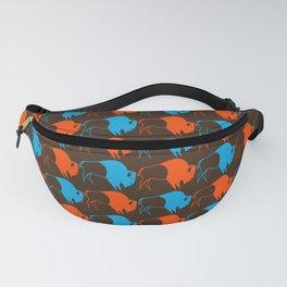 Orange Blue Buffalo Spirit Fanny Pack