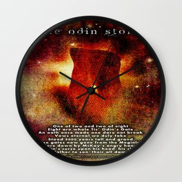 The Odin Stone Wall Clock