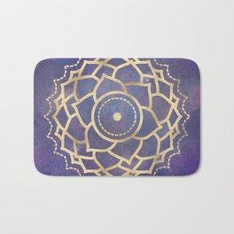 Mandala Chakra Copper and Purple Crown Chakra Bath Mat