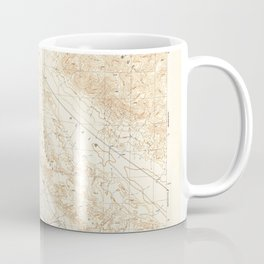 Elkhorn Hills, CA from 1944 Vintage Map - High Quality Coffee Mug
