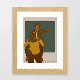 Hunky Dorky Framed Art Print