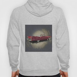 Classic 1959 Red Cadillac Convertible Hoody