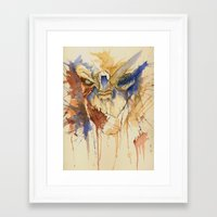 garrus Framed Art Prints featuring Garrus Vakarian by CuriousCanvas