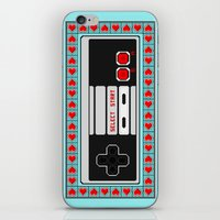 video game iPhone & iPod Skins featuring Video Game Lover : NES by The Geek Inside Me