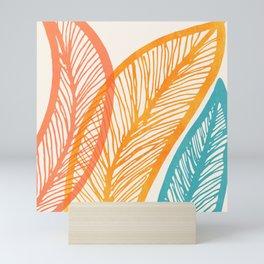 Tropical Flora - Retro Palette Mini Art Print