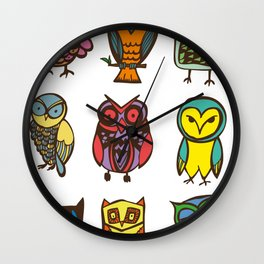 Owlies Wall Clock