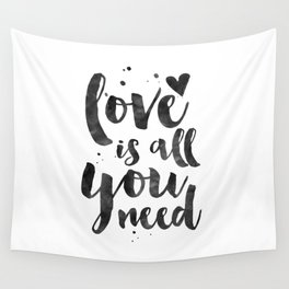 LOVE WALL DECOR, Love Is All You Need,Family Sign,Family Gift,Living Room Decor,Boyfriend Gift,Coupl Wall Tapestry
