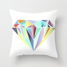 Diamonds are a girls best friend Throw Pillow