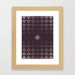 Disconnected Framed Art Print