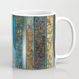 Metal Patina Stripes #2 Coffee Mug