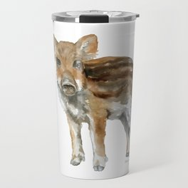Baby Wild Boar watercolor Travel Mug