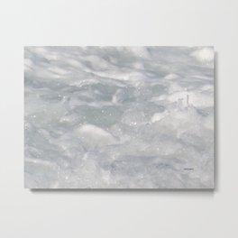 TEXTURES: Laguna Beach Sea Foam #1 Metal Print