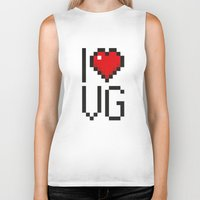 video games Biker Tanks featuring PAUSE – I Love Video Games by PAUSE