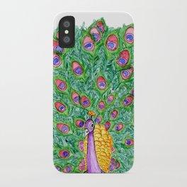 Peekin' Peacock iPhone Case