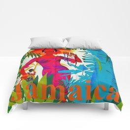 Vintage Caribbean Travel - Jamaica Comforters