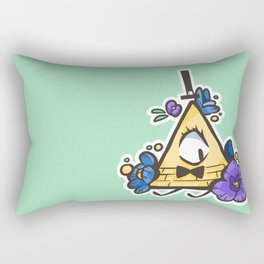 Tiny Blue Flowers Rectangular Pillow
