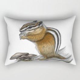 Chipmunk and mushrooms Rectangular Pillow
