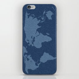 Denim Map iPhone Skin