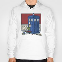 hallion Hoodies featuring Who wants to Build a Snowman? by Karen Hallion Illustrations