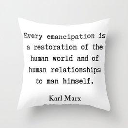 55    Karl Marx Quotes   190817 Throw Pillow