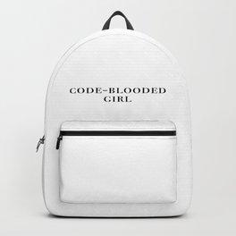 Code-blooded girl Backpack