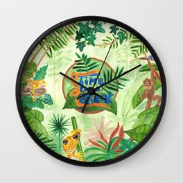 Medilludesign Ecotherapy Jungle Wall Clock