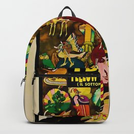1968 Yellow Submarine Italy Movie Promotional Poster Backpack