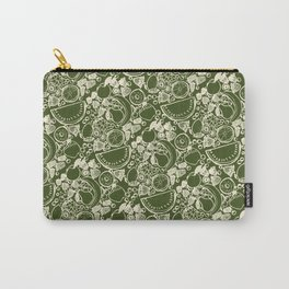 Fruit Print Green Carry-All Pouch