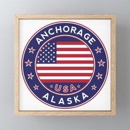 Anchorage, Alaska Framed Mini Art Print