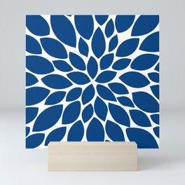 blue petals Mini Art Print
