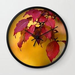 BRIGHT AUTUMN COLORS Wall Clock