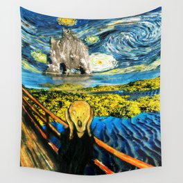 Edvard meets Vincent Wall Tapestry