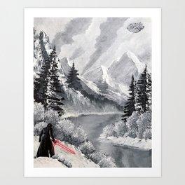 """Shades of Grey, Starkiller Base"" Art Print"