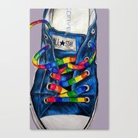 converse Canvas Prints featuring Converse by Tina Mooney