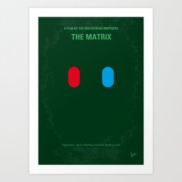 No093 My The Matrix minimal movie poster Art Print