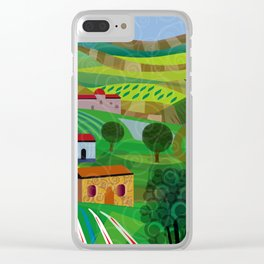 Santa Barbara Wine and Cheese Clear iPhone Case