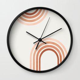 Earthy Modern Rainbow Wall Clock