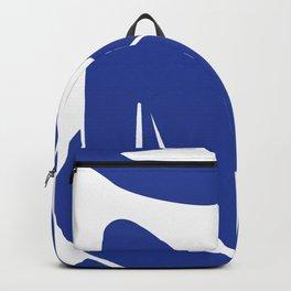 Matisse blue woman print, abstract woman print, matisse wall art, Abstract Modern Print, Backpack