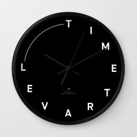 wall clock Wall Clocks featuring Timetravel Wall Clock by VM & TvS