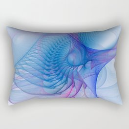 pink and blue and framed Rectangular Pillow