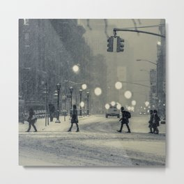 Snow City Metal Print