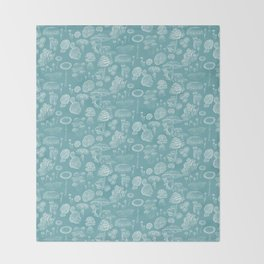 Mycology Blue Throw Blanket