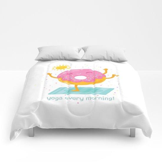 i love yoga Comforters