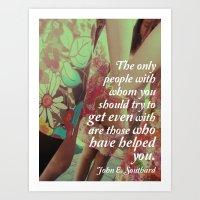 John E. Southard Quote Art Print