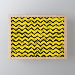 CHEVRON HONEY Framed Mini Art Print