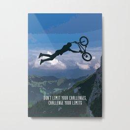 Bmx Rider Motivational Wall Art Decor Metal Print